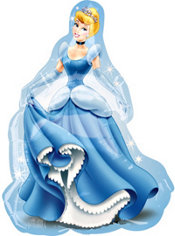 Foil Cinderella Balloon 32in