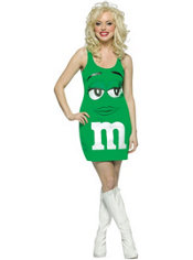 Adult M&M Green Dress Costume