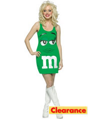 Adult Green Dress M&M Costume
