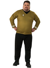 Adult Gold Costume Plus Size - Star Trek
