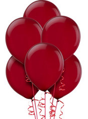 Burgundy Latex Balloons 12in 15ct