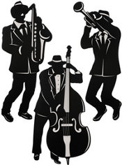 Jazz Musician Cutouts 3ct