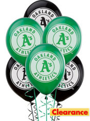Oakland Athletics Latex Balloons 12in 6ct