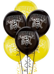 Pittsburgh Pirates Latex Balloons 12in 6ct