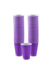 Purple Plastic Cups 50ct