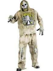 Adult Skeleton Zombie Costume Plus Size