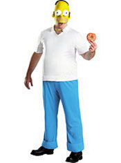 Adult Homer Simpson Costume Deluxe - The Simpsons