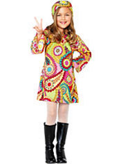 Toddler Girls Groovy Girl Hippie Costume
