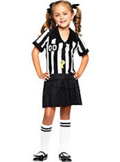 Toddler Girls Half Pint Referee Costume