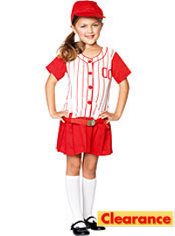Toddler Girls Lil Miss Slugger Baseball Costume