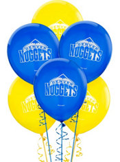 Denver Nuggets Balloons 6ct