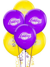 Los Angeles Lakers Balloon 6ct