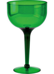 Green Plastic Giant Margarita Glass