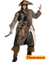 Adult Captain Jack Sparrow Costume Plus Size Theatrical - Pirates of the Caribbean
