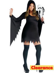 Adult Sexy Ghost Face Costume Plus Size