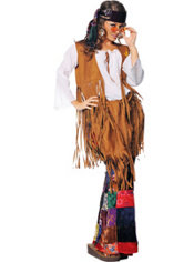 Adult Peace Out Hippie Costume Plus Size
