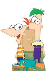 Phineas and Ferb Life Size Cardboard Cutout 44in