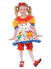 Toddler Girls Clown Girl Costume