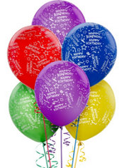 Confetti Birthday Balloons 20ct - Primary