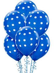 Royal Blue Polka Dot Balloons 6ct