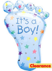 Foil It's a Boy Footprint Baby Shower Balloon 26in