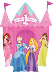 Foil Giant 1st Birthday Disney Princess Happy Birthday Balloon 35in
