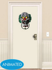 Animated Zombie Clown Door Knocker 15in
