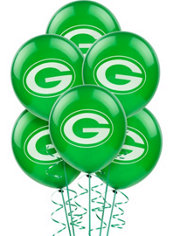 Green Bay Packers Balloons 6ct