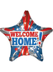 Foil Star Welcome Home Balloon 32in