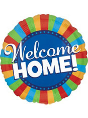 Foil Welcome Home Balloon 31in