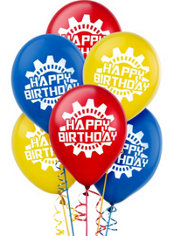 Machine Birthday Balloons 12in 6ct