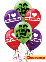 One Direction Balloons 12in 6ct