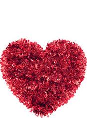Tinsel Heart Decoration