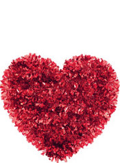 Tinsel Heart Decoration