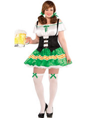 Adult Kiss Me Beer Maid Costume Plus Size