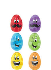 Smiling Fillable Easter Eggs 6ct