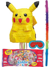 Pull String Pikachu Pokemon Pinata Kit