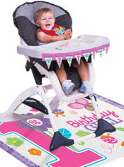 Sweet Girl 1st Birthday High Chair Decorating Kit 2pc