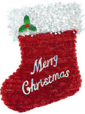 Deluxe Tinsel Stocking
