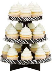Zebra Print Cupcake Stand