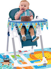 Wild at One Boy's 1st Birthday High Chair Decorating Kit 2pc