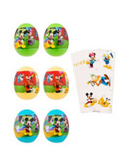 Mickey Mouse Sticker Easter Eggs 6ct
