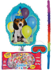 Pull String Party Pups Pinata Kit