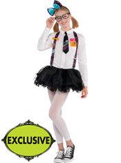 Girls Hello Kitty Nerd Costume
