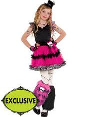 Girls Fuchsia Frankie Stein Costume - Monster High