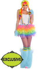 Adult Raving Rainbow Dash Costume - My Little Pony