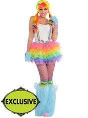 Adult Raving Rainbow Dash Costume - My Little Pony