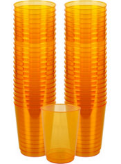 Orange Plastic Cups 72ct