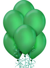 Festive Green Pearl Balloons 15ct