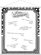 Black & White Birthday Sign-In Sheet